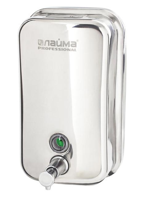 Дозатор Лайма Professional для жидкого мыла 1.0L Steel Matte 605395