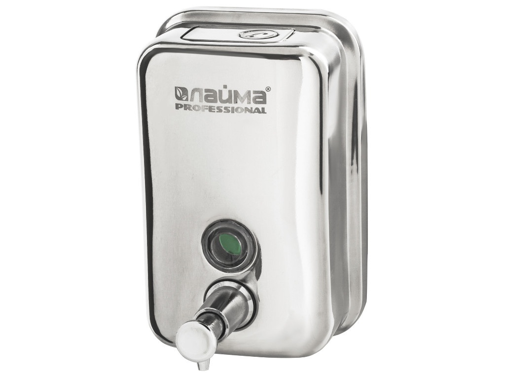 Дозатор Лайма Professional для жидкого мыла 0.5L Steel Mirror 605394