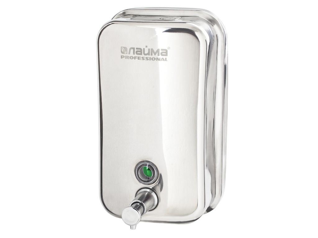 Дозатор Лайма Professional для жидкого мыла 1.0L Steel Mirror 605393