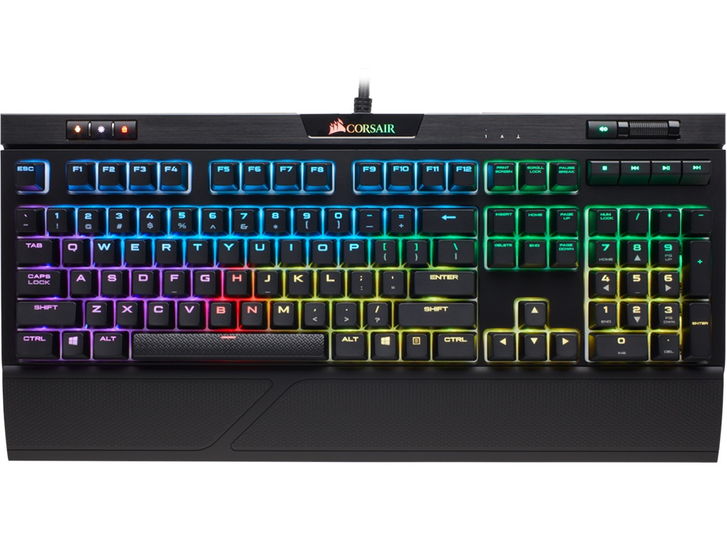 Клавиатура Corsair Gaming Strafe RGB MK.2 Cherry MX Red (Russian) CH-9104110-RU