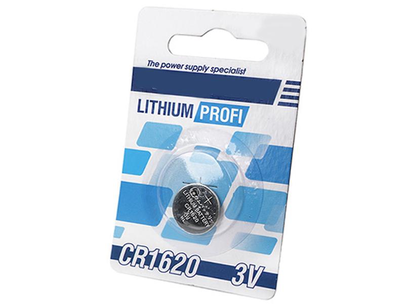 Батарейка CR1620 - Robiton Profi R-CR1620-BL1 13056 (1 штука) элемент питания robiton profi cr1632 блистер 5шт