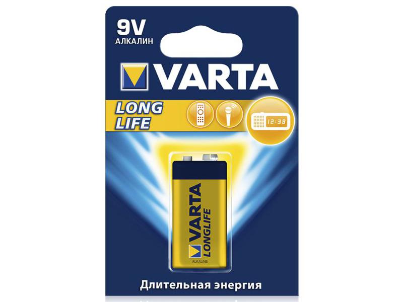Батарейка КРОНА Varta Longlife 6LR61 1BL 4122