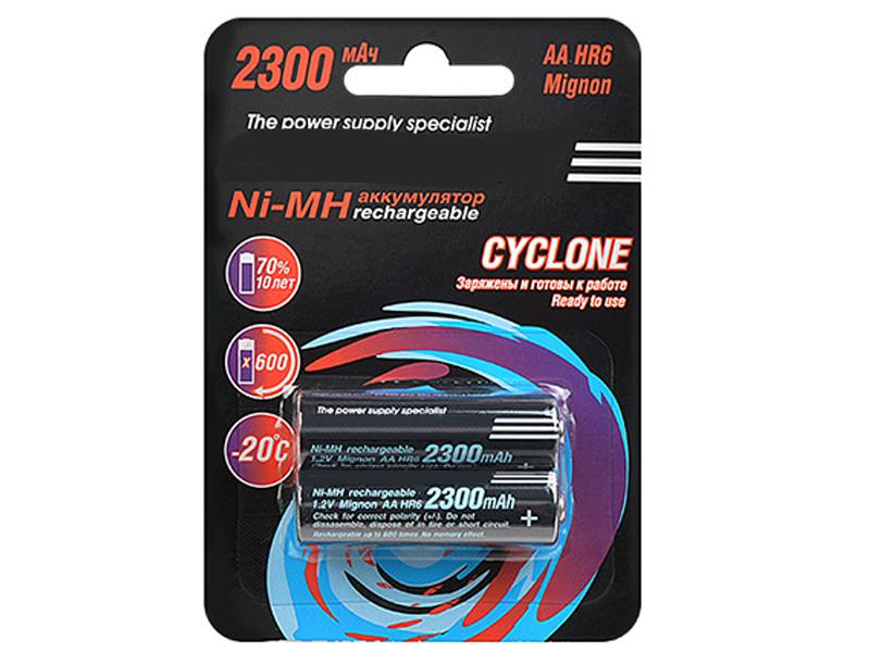 Аккумулятор AA - Robiton Cyclone RTU2300MHAA BL2 15580 (2 штуки)