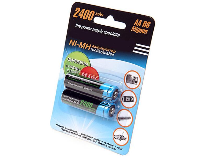 Аккумулятор AA - Robiton RTU2400MHAA-2 BL2 9791 (2 штуки)