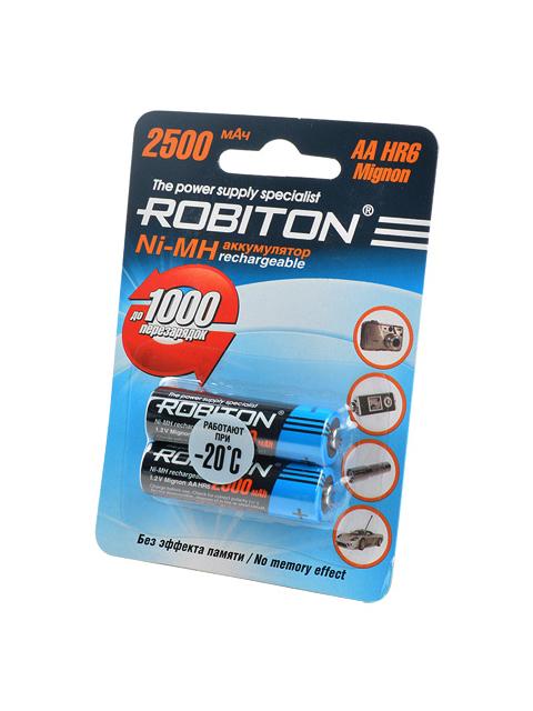 Аккумулятор AA - Robiton 2500MHAA-2 BL2 8793 (2 штуки)