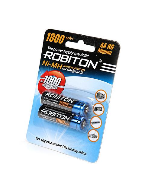 Аккумулятор AA - Robiton 1800MHAA-2 BL2 8790 (2 штуки)