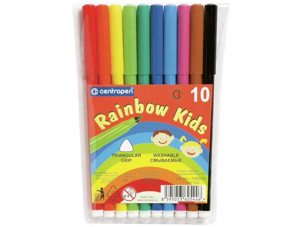 Фломастеры Centropen Rainbow Kids 10 цветов 7550/10