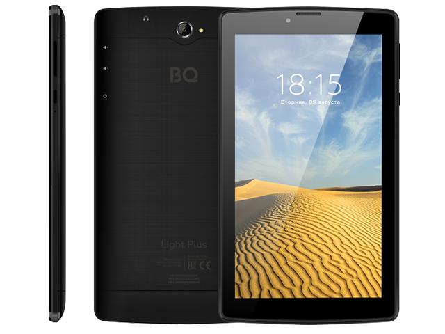 Планшет BQ 7038G Light Plus Black (Unisoc SC7731E 1.3GHz/2048Mb/16Gb/3G/Wi-Fi/Bluetooth/GPS/Cam/7.0/1024x600/Android)