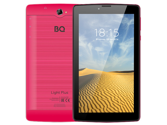 Планшет BQ 7038G Light Plus Red (Unisoc SC7731E 1.3GHz/2048Mb/16Gb/3G/Wi-Fi/Bluetooth/GPS/Cam/7.0/1024x600/Android)