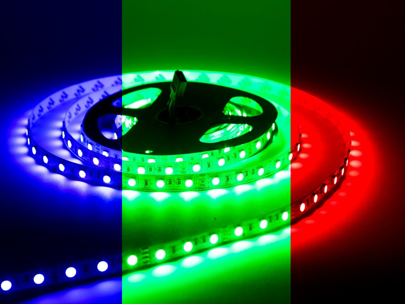 Светодиодная лента URM 5050-60led-12V-14,4W 18-20LM-RGB-IP22-10mm Standart C10113