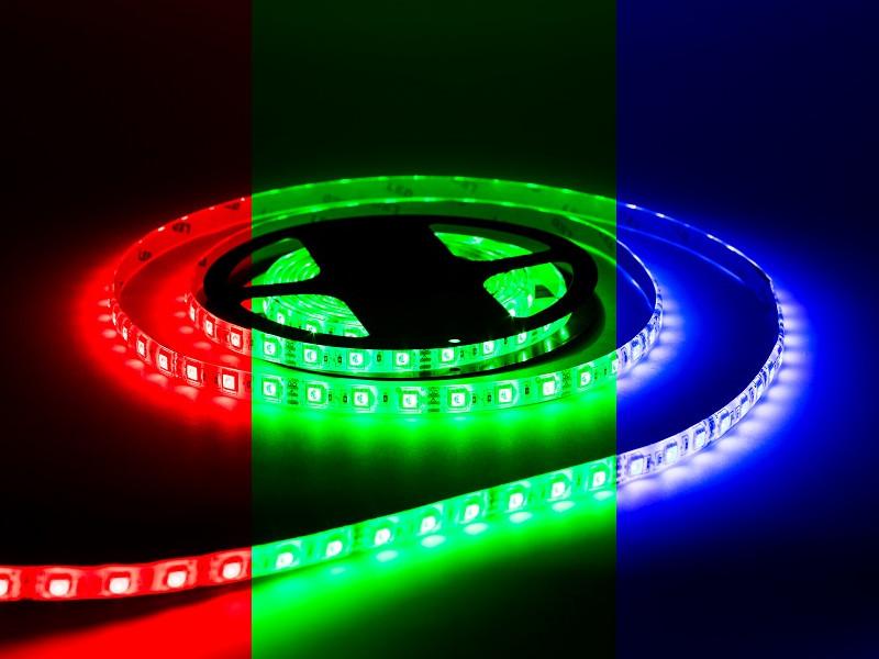 Светодиодная лента URM 5050-60led-12V-14,4W 10-12LM-RGB-IP65-10mm C10102