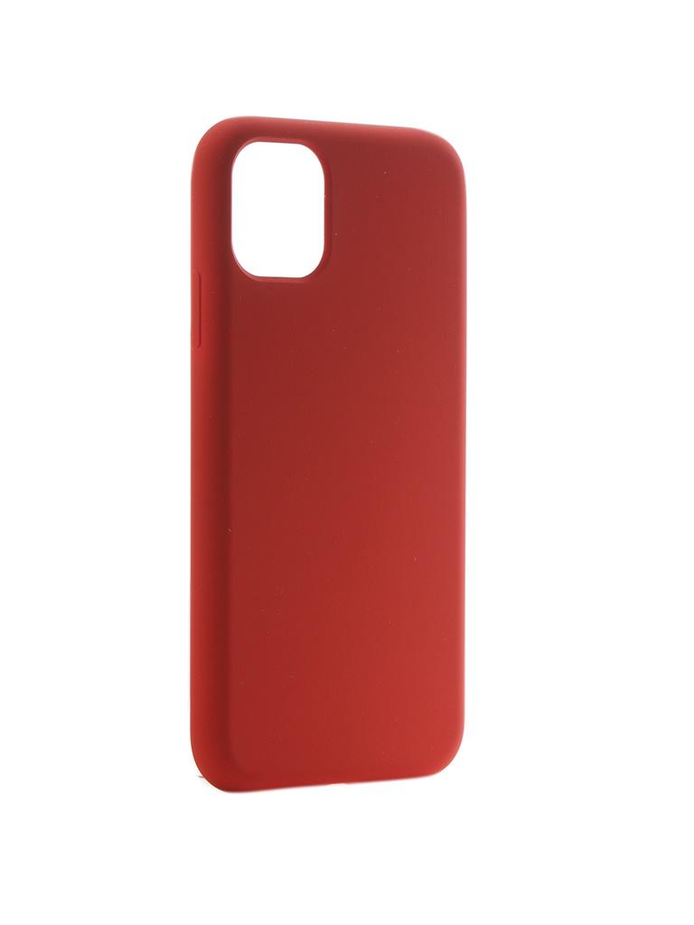 Чехол Hardiz для APPLE iPhone 11 Liquid Silicone Case Red HRD822202
