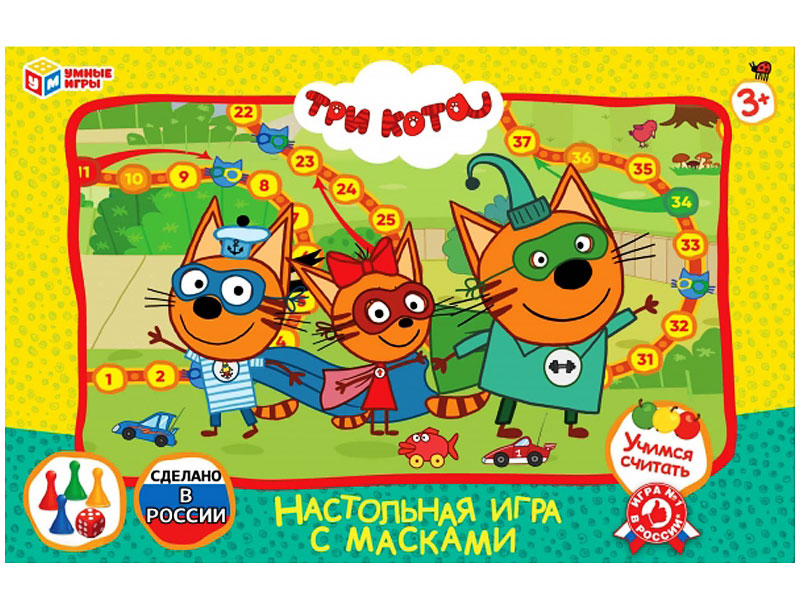 Настольная игра Умные Игры Три кота с масками 4690590193907