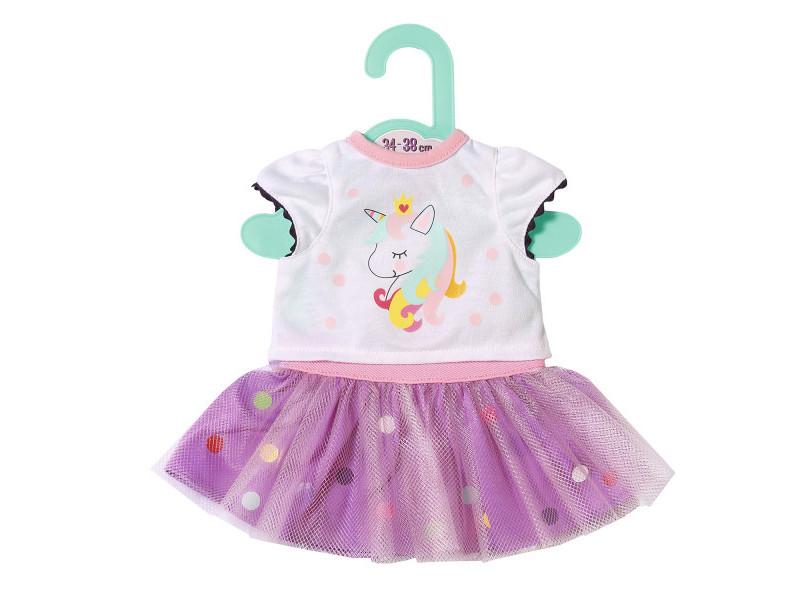 Одежда для куклы Zapf Creation Футболка с балетной юбкой 34-38cm 870-563