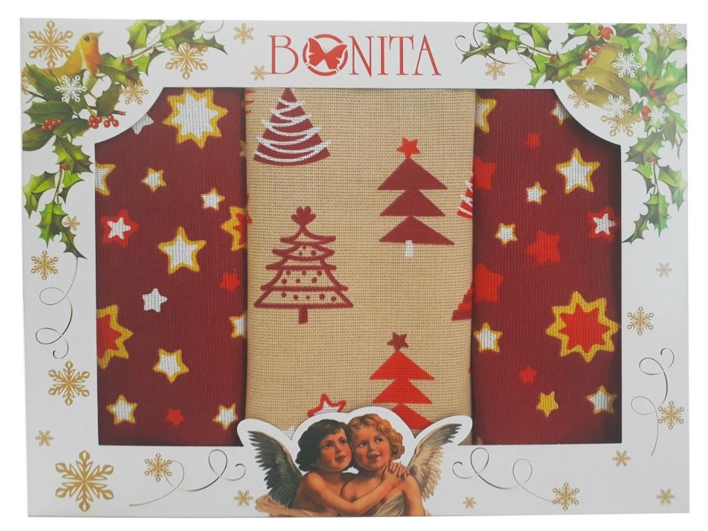 Полотенце Bonita Рождественская звезда 3шт 11010118985