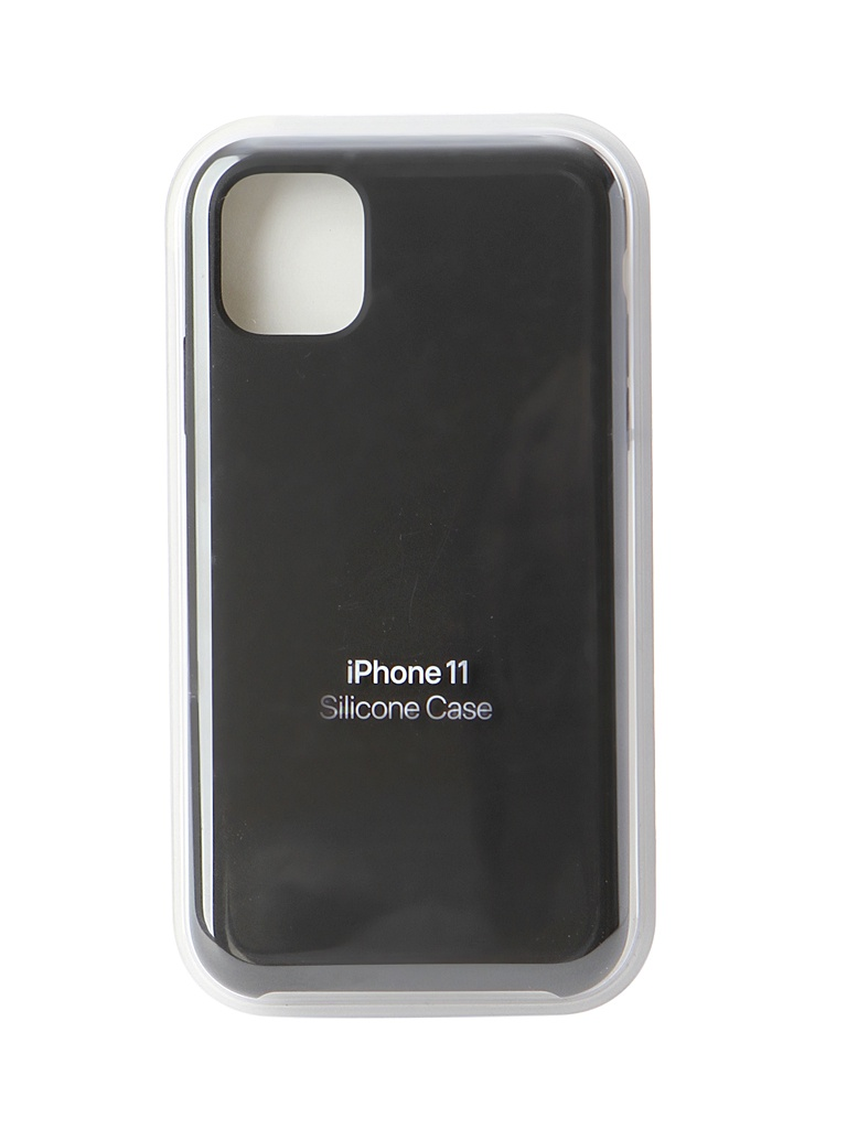 Чехол для APPLE iPhone 11 Silicone Case Black MWVU2ZM/A аксессуар чехол snoogy creative silicone 0 3mm для apple iphone 5 black