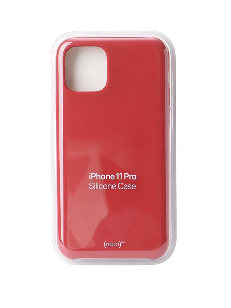 Чехол для APPLE iPhone 11 Pro Silicone Case Red MWYH2ZM/A чехол apple silicone case для iphone 11 pro product red