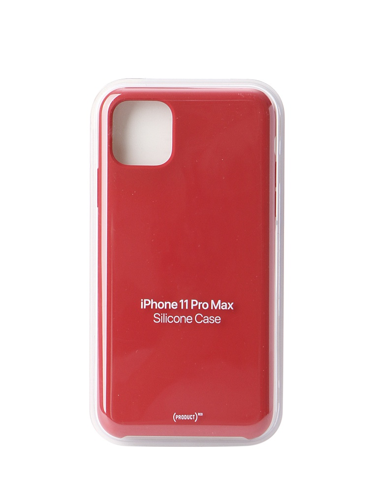цена на Аксессуар Чехол для APPLE iPhone 11 Pro Max Silicone Case Red MWYV2ZM/A