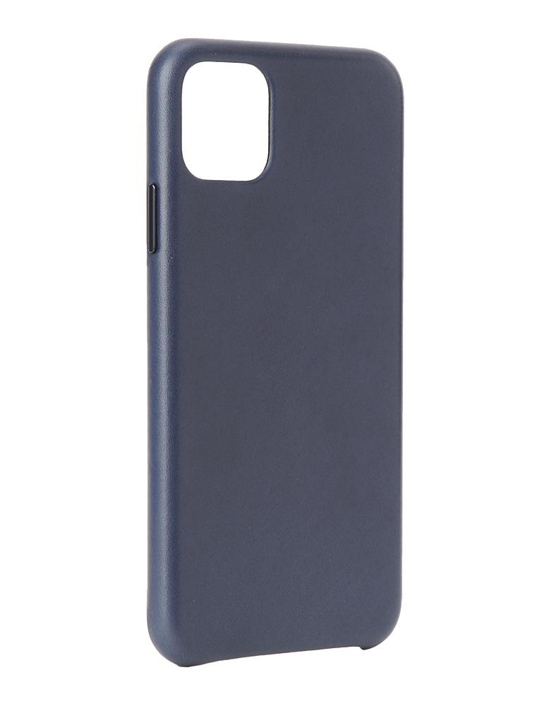 Чехол для APPLE iPhone 11 Pro Max Leather Case Midnight Blue MX0G2ZM/A