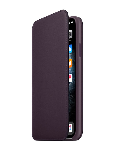 Аксессуар Чехол для APPLE iPhone 11 Pro Leather Folio Aubergine MX072ZM/A