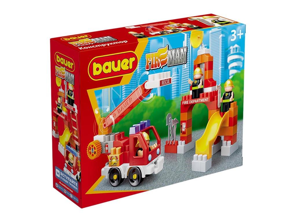 Конструктор Bauer Fireman Пожарная машина и тренировочная площадка 740
