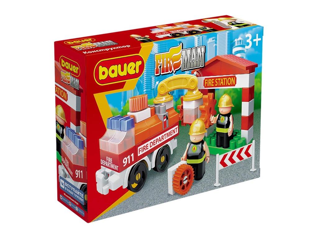 Конструктор Bauer Fireman Пожарная машина и пожарный гидрант 739