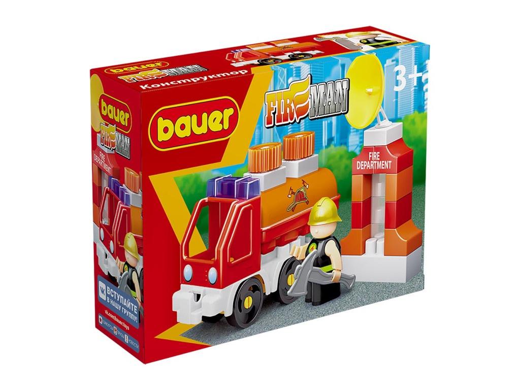Конструктор Bauer Fireman Пожарная машина с цистерной 738