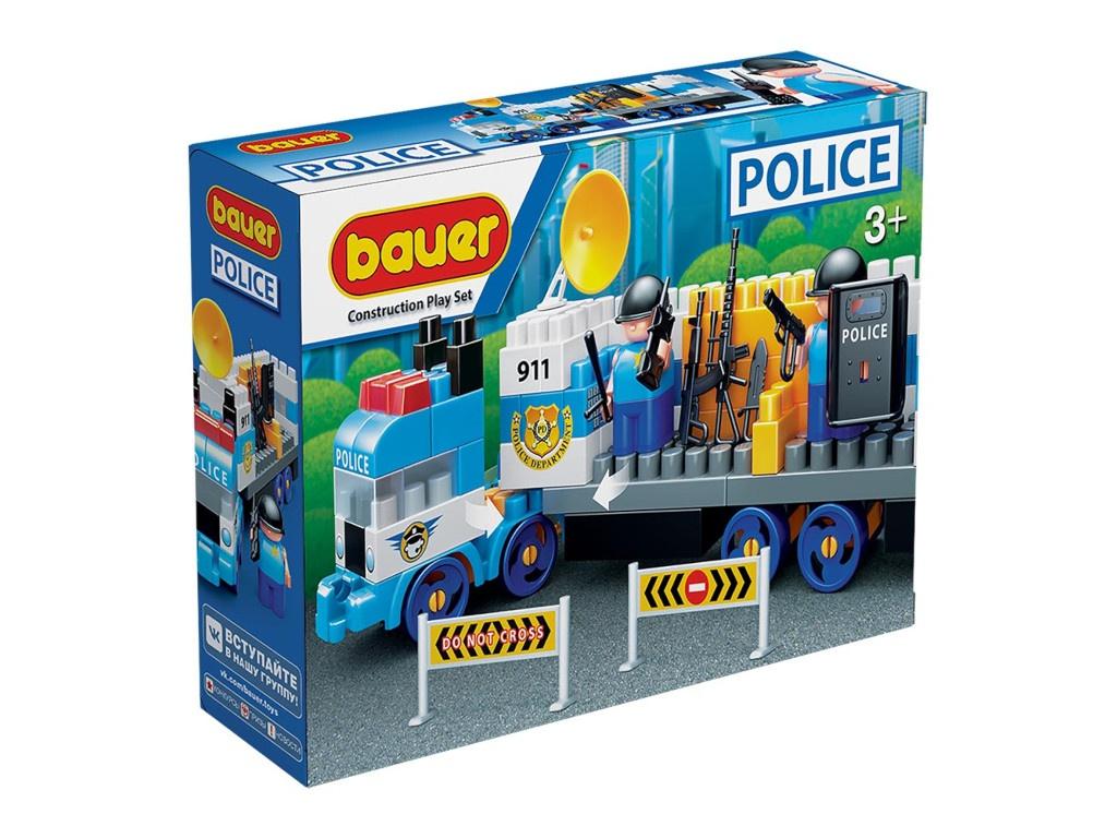 Конструктор Bauer Полиция. Грузовик с вооружением и группой быстрого реагирования 630
