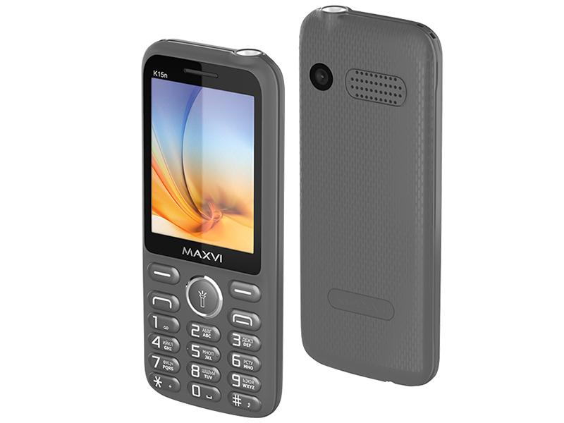 Сотовый телефон Maxvi K15n Grey