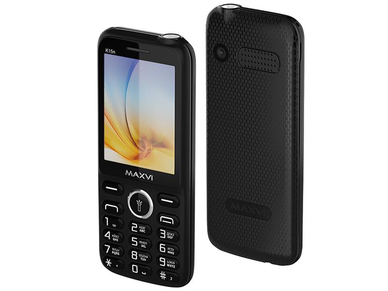 Сотовый телефон Maxvi K15n Black