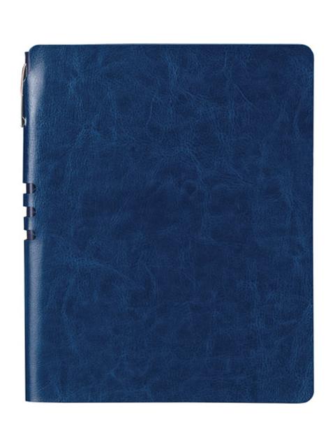 Бизнес-тетрадь Brauberg Nebraska А5+ 120 листов Dark Blue 110954