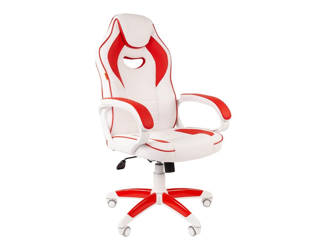 Компьютерное кресло Chairman GAME 16 игровое White-Red