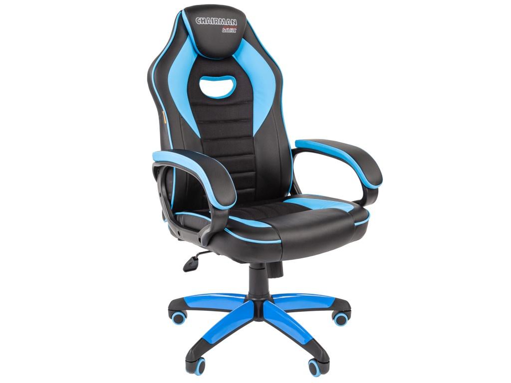 Компьютерное кресло Chairman GAME 16 игровое Black-Blue
