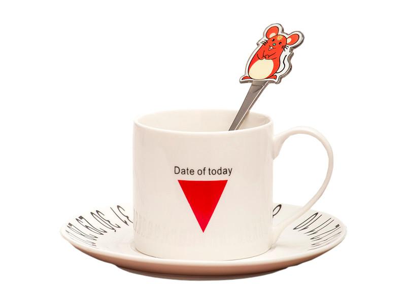 Чашка с блюдцем Эврика Твой удачный день 2020 200ml 99620