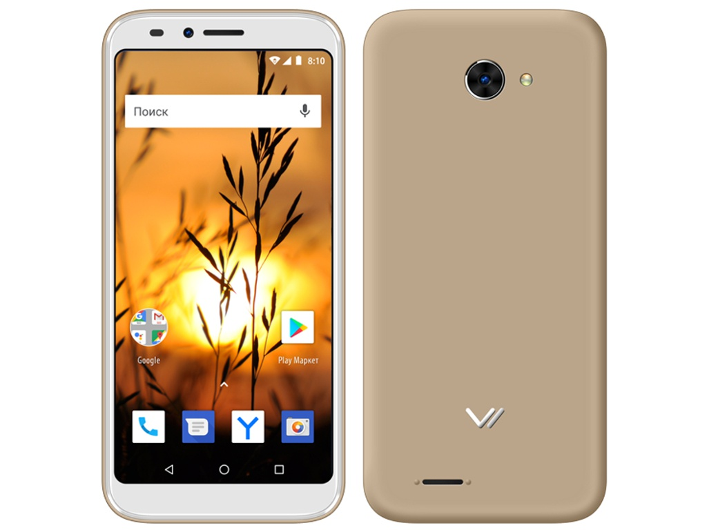 Сотовый телефон Vertex Impress Sunset NFC 4G Gold