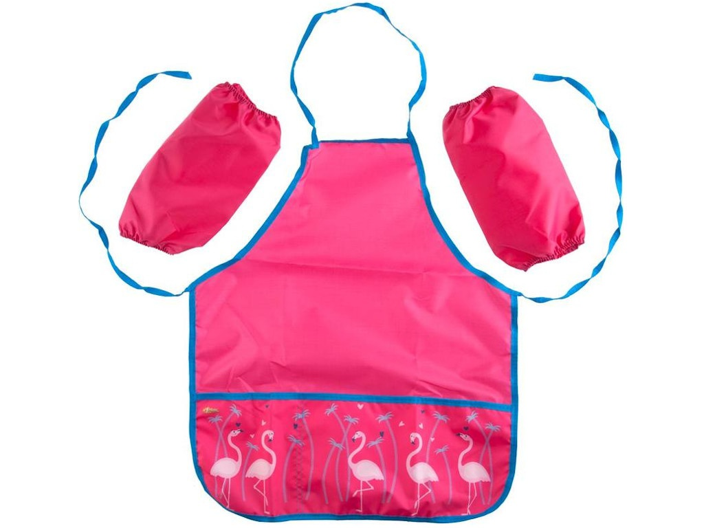 Фартук для труда №1 School Flamingo 44x54cm 2 кармана, нарукавники 1008049