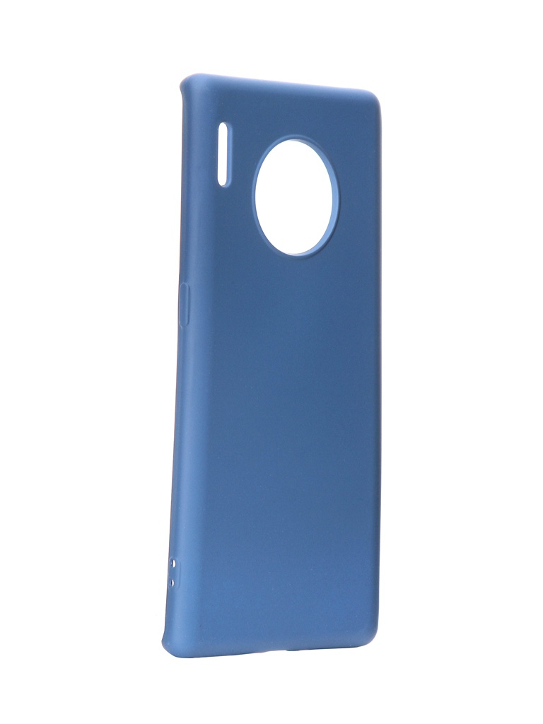 Чехол DF для Huawei Mate 30 Pro Silicone Blue hwOriginal-06