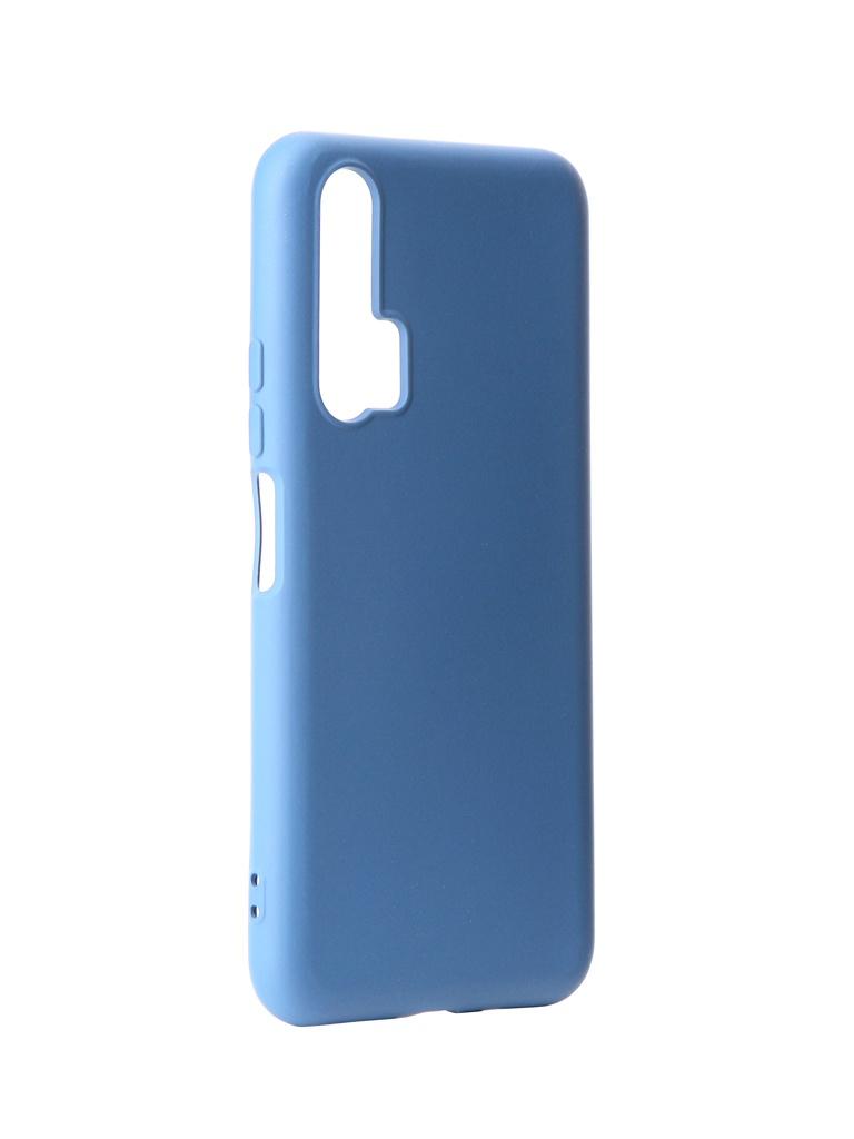 Чехол DF для Honor 20 Pro Silicone Blue hwOriginal-02