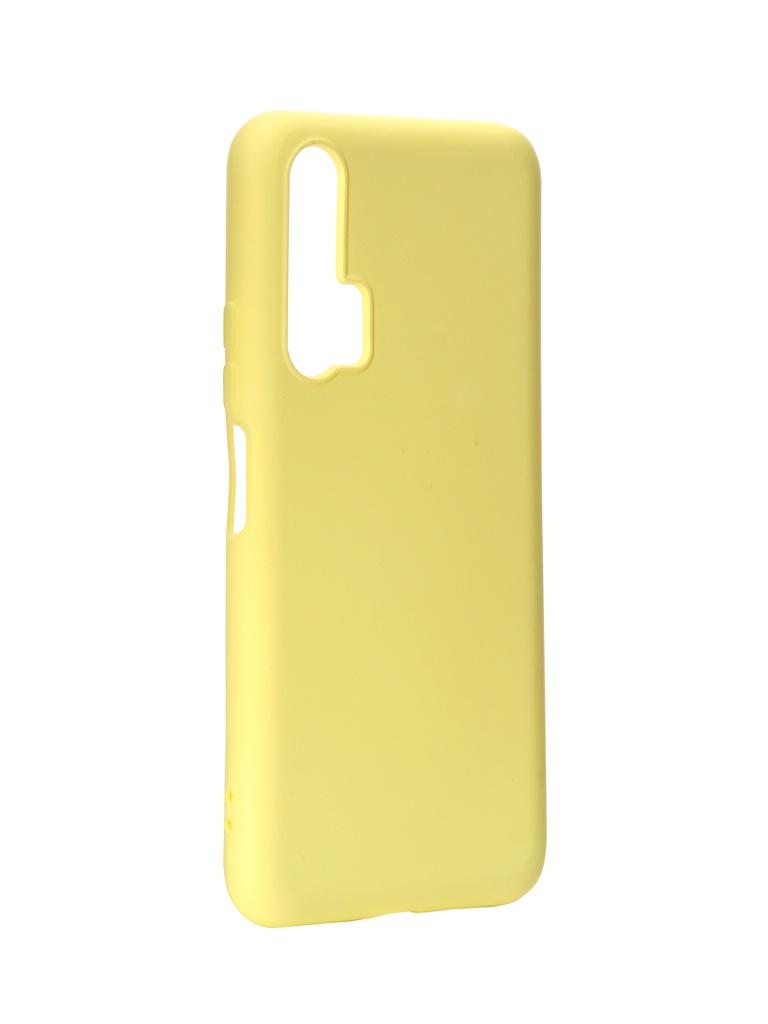 Чехол DF для Honor 20 Pro Silicone Yellow hwOriginal-02