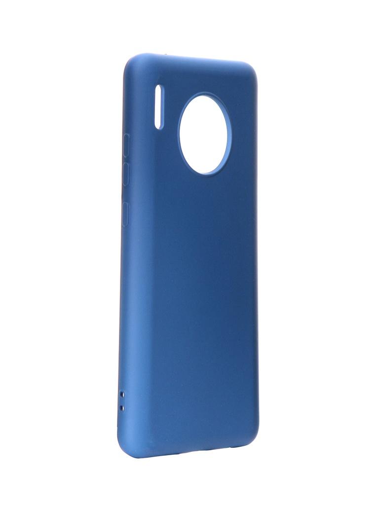 Чехол DF для Huawei Mate 30 Silicone Blue hwOriginal-05