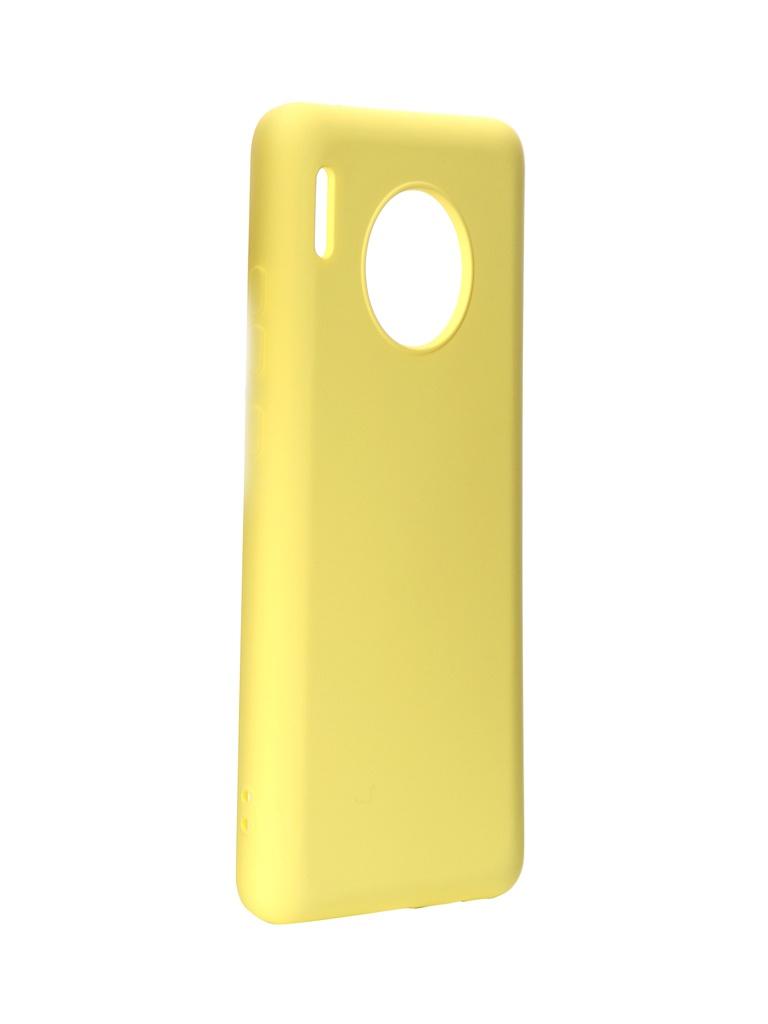 Чехол DF для Huawei Mate 30 Silicone Yellow hwOriginal-05