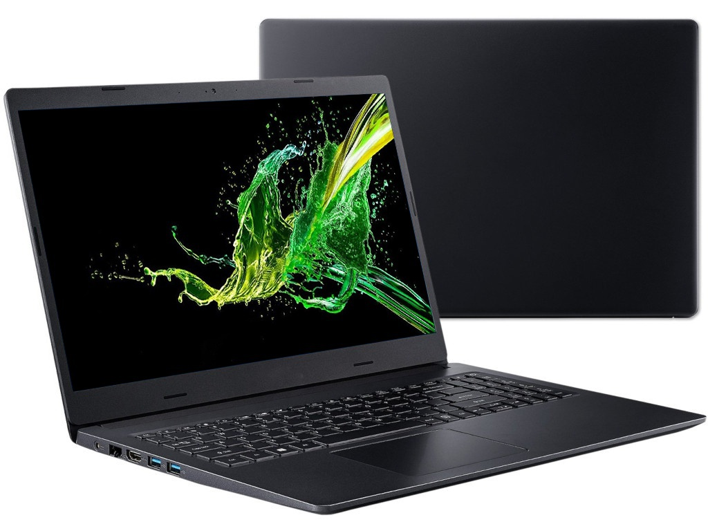 Ноутбук Acer Aspire A315-55KG-314H Black NX.HEHER.007 (Intel Core i3-7020U 2.3 GHz/8192Mb/1000Gb/nVidia GeForce MX130 2048Mb/Wi-Fi/Bluetooth/Cam/15.6/1920x1080/Linux)