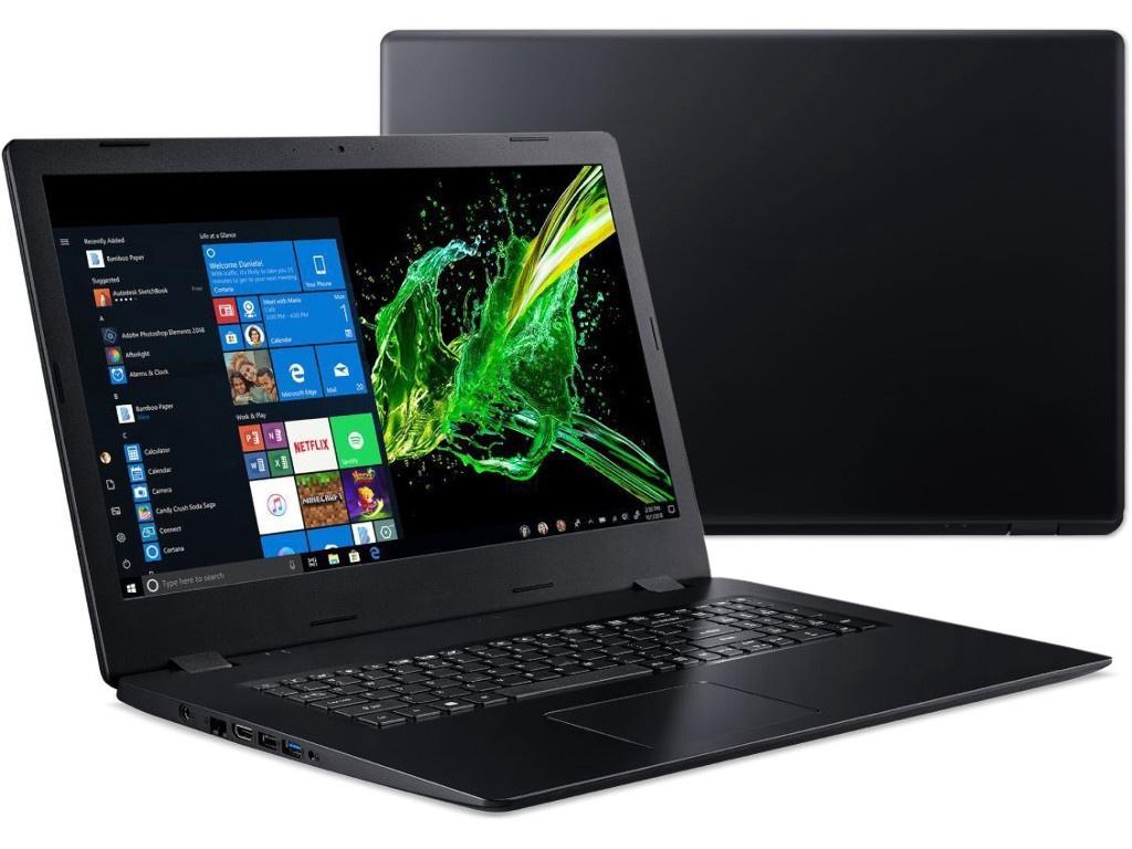 Ноутбук Acer Aspire A317-51KG-39RT Black NX.HELER.005 (Intel Core i3-7020U 2.3 GHz/4096Mb/128Gb SSD/nVidia GeForce MX130 2048Mb/Wi-Fi/Bluetooth/Cam/17.3/1600x900/Windows 10 Home 64-bit) цена в Москве и Питере