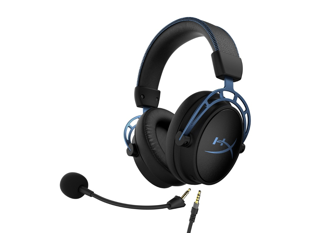 Наушники HyperX Cloud Alpha S Black-Light Blue HX-HSCAS-BL/WW