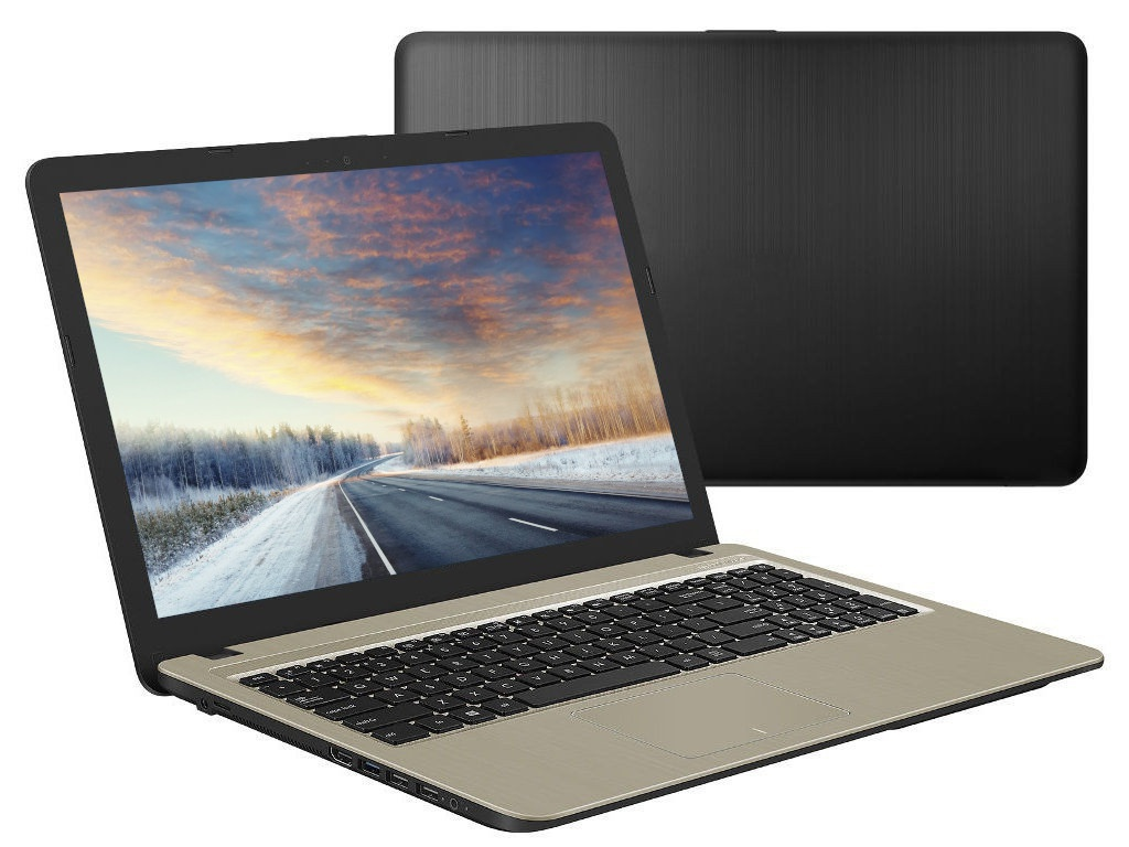 Ноутбук ASUS VivoBook A540BA-GQ185 90NB0IY1-M02270 (AMD A6-9225 2.6GHz/4096Mb/500Gb/AMD Radeon R4/Wi-Fi/Bluetooth/Cam/15.6/1366x768/Endless)