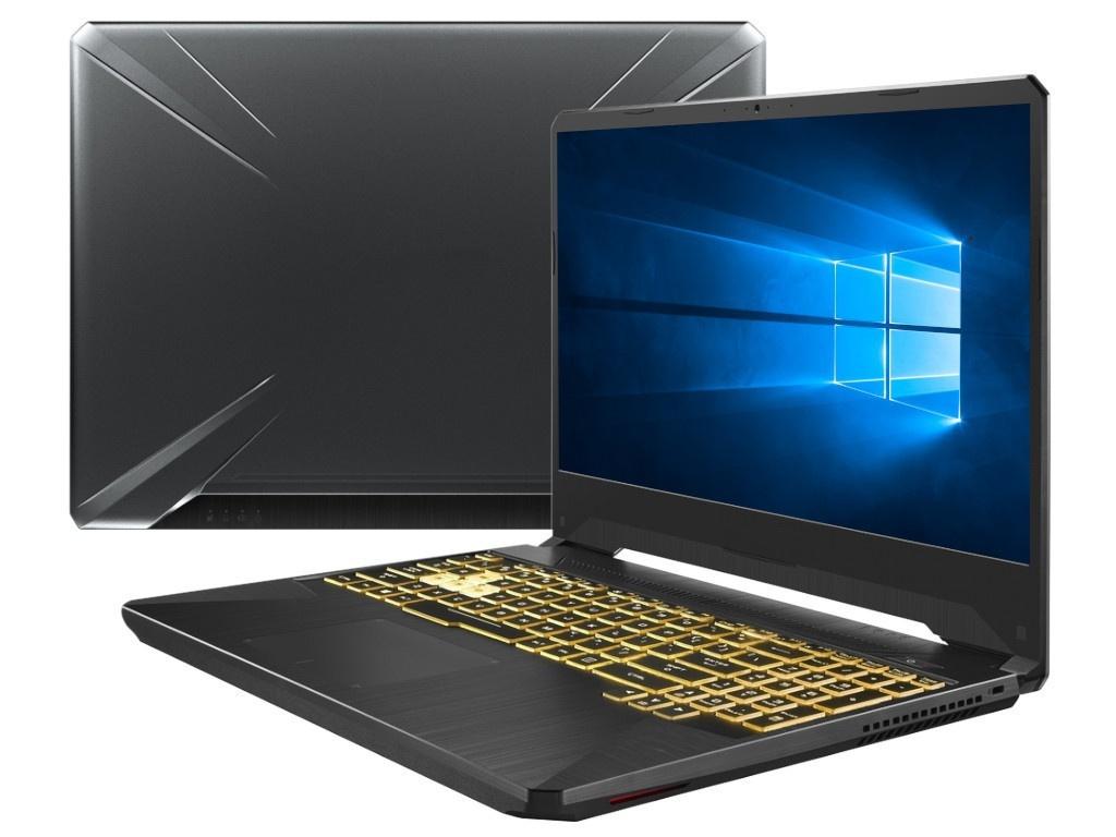 Ноутбук ASUS TUF Gaming FX505DV-AL010T 90NR02N1-M02020 (AMD Ryzen 7-3750H 2.3GHz/8192Mb/512Gb SSD/nVidia GeForce RTX 2060 6144Mb/Wi-Fi/Bluetooth/Cam/15.6/1920x1080/Windows 10 64-bit) фото