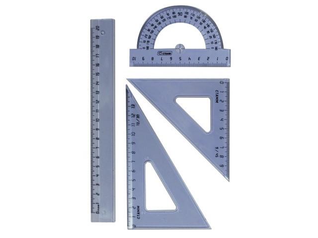 Набор чертежный средний СТАММ НГ03 20 cm Transparent