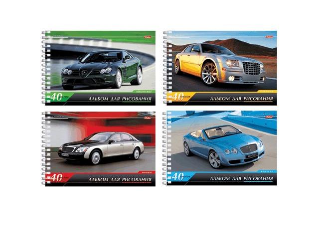 Альбом для рисования Hatber Престижные авто А4 40 листов A028216