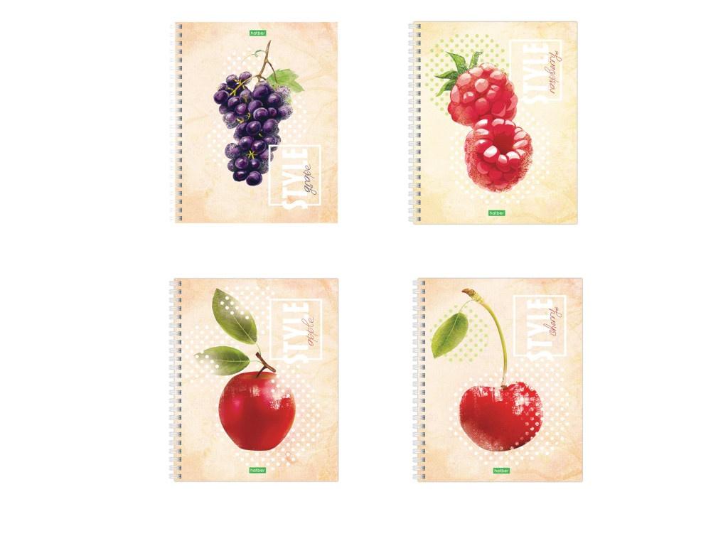 Тетрадь Hatber ECO Fruit Style А5 80 листов 80Т5C1сп