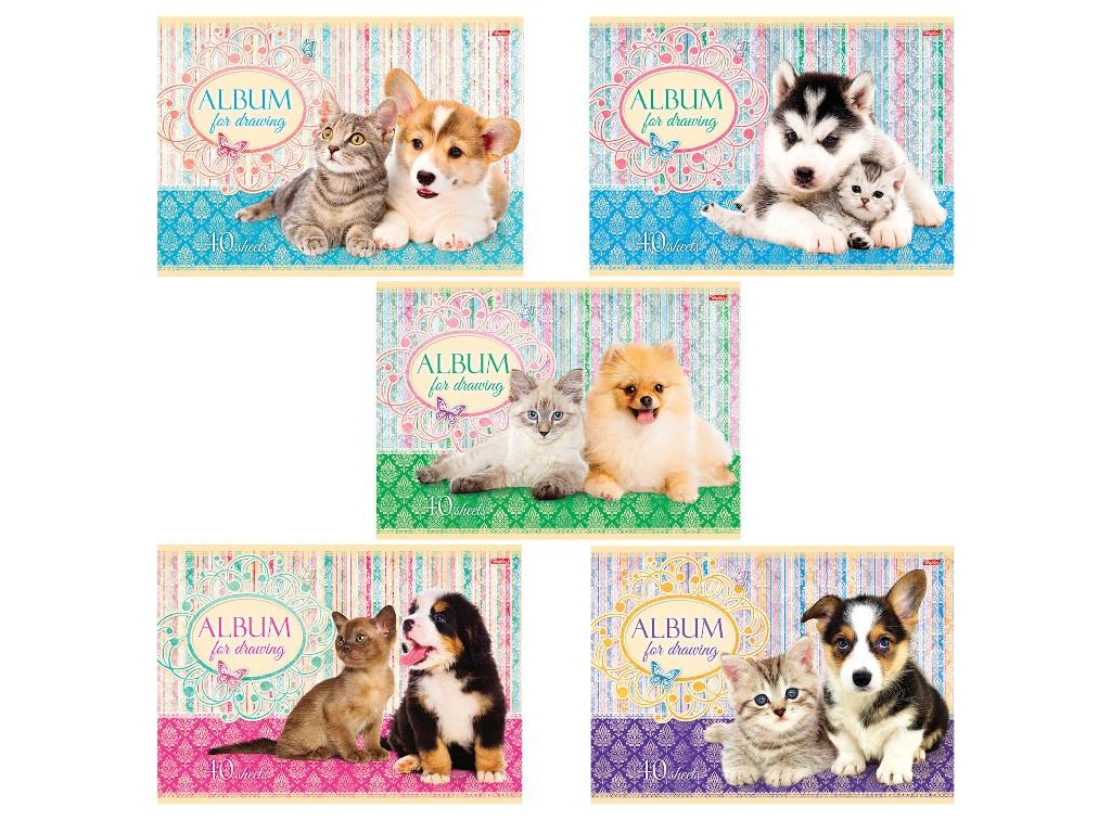 Альбом для рисования Hatber Маленькие друзья А4 40 листов A75302
